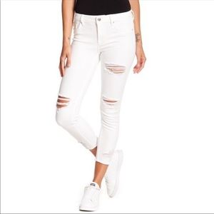 VIGOSS Marley super skinny white distressed jeans